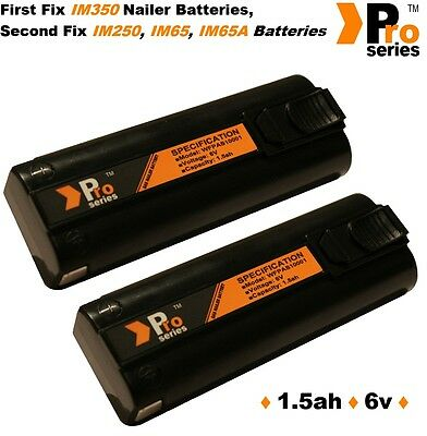 2 X  Replacement Batteries 1.5ah (pro-series) For Paslode Im350/350+/65/65A/250 • 37.94£