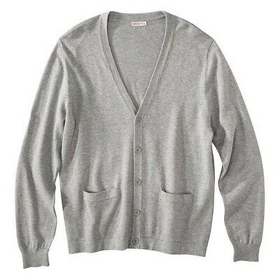 $22.99 • Buy NEW Mens Merona Gray V Neck Button Down Cardigan Sweater NWT Sizes Available