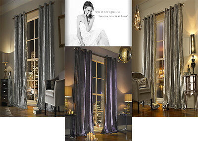 Kylie Iliana Curtains - Designer Kylie Minogue Home Eyelet Ring Top Velvet Lined • 79.20£