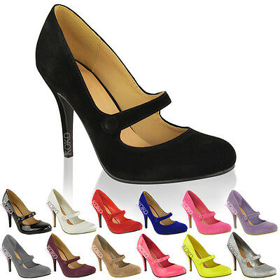 £18.99 • Buy Ladies Womens Low Mid High Heel Ankle Strap Court Shoes Work Pumps Sandals Size