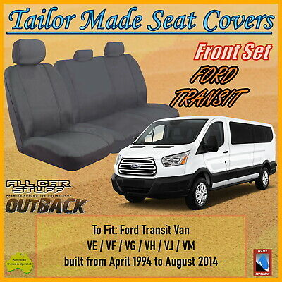 AU109.92 • Buy Tailor Made Grey Canvas Seat Covers For Ford Transit Van From 04/1994 To 10/2014