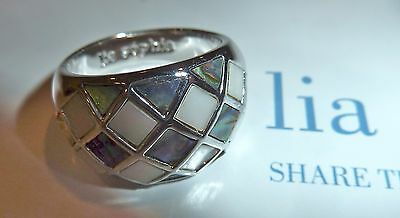 $ CDN36.57 • Buy Nib - Lia Sophia  Checkmate  Abalone/mother Of Pearl Ring - Sz 11 - 2010/$68