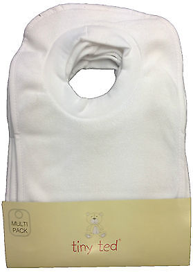 £5.89 • Buy Baby Bibs  Pack Of 7  Tiny Ted White Terry Pop Over Bnwt