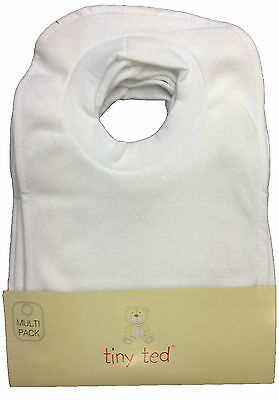£5.49 • Buy Baby Bibs  Pack Of 7  Tiny Ted White Terry Pop Over Bnwt