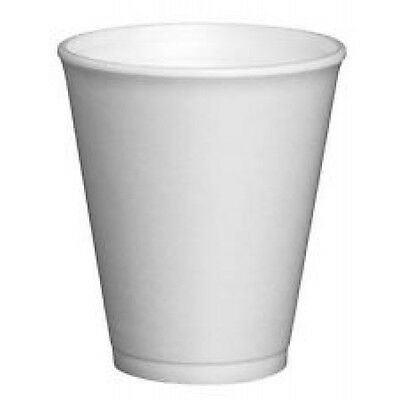 1000 X 10oz Lnsulated Foam Poly Cups Polystyrene Catering Kitchen Canteen Cafe  • 36.99£