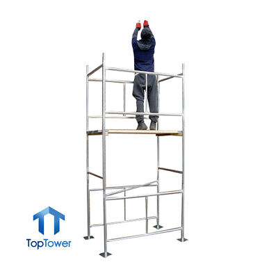 Scaffold Tower, Boards Option 3.8m 4x2ft 6in X 12ft 6in WH DIY Galvanised Towers • 199£