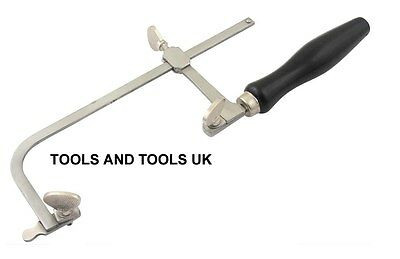 JEWELLER PIERCING SAW FRAME 80 Mm JEWELLERS HAND TOOL ADJUSTABLE+ FREE 12 BLADES • 11.99£