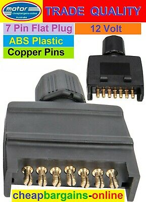 AU6.99 • Buy 7 Pin Flat Trailer Plug Quickfit 7 Pin Flat Trailer Electrical Connector Copper