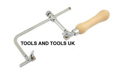 JEWELLER PIERCING SAW FRAME 70 Mm JEWELLERS HAND TOOL ADJUSTABLE+ FREE 12 BLADES • 15.86£