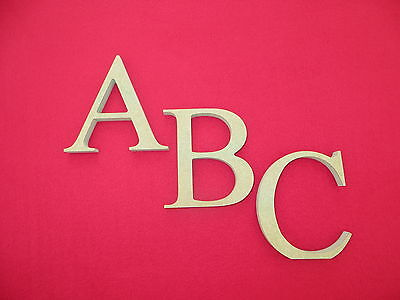 £1.65 • Buy Free Standing Wooden MDF Letters 14.5cm High 18mm Thick Times New Roman Font