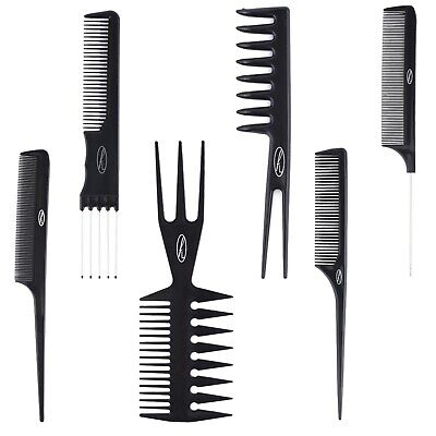 Hair Combs Variety (18Total) Barber Tail Pin Rake Styling Lift Teeth Pocket Afro • 1.19£