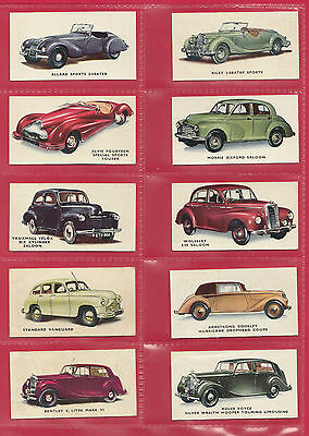 Kellogg Ltd. -  Rare Part Set Of 39 / 40 Motor Cars ( Coloured )  Cards  -  1949 • 130£