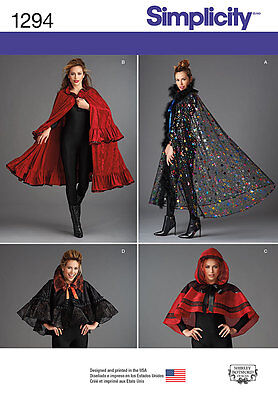 £10.23 • Buy SIMPLICITY 1294 OOP Misses Dickens Victorian Fantasy Cape Costume Sewing Pattern