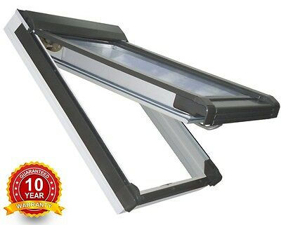 £232 • Buy PVC White Top Hung Escape Access Roof Windows 55cm X 78cm Flashing Rooflite