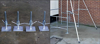 Scaffold Tower Pair Of Stabilisers + Set Of Adjustable Bases For Classic Towers • 124.95£