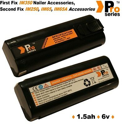 2 X Replacement Batteries 6v 1.5ah (pro-series)for Paslode Im350/350+/65/65A/250 • 37.94£