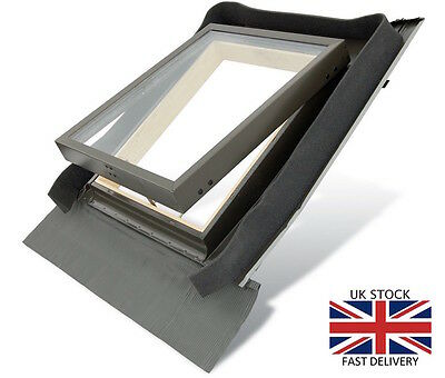 £100.90 • Buy Fenstro Rooflite Double Glazed Skylight Access Roof Window 45x73 With Flashing