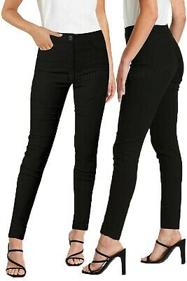 £15.95 • Buy Girls Skinny Trousers School Women Front Pockets Chinos Style Office Work Pants