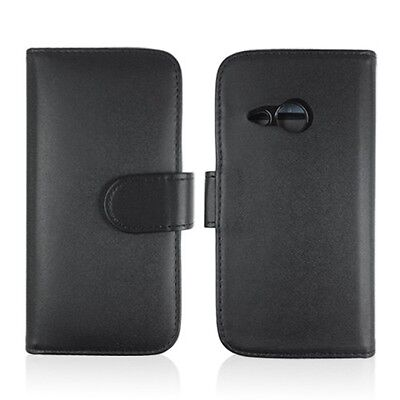 AU19.95 • Buy 2 X Black Synthetic Leather TPU In Wallet Case Cover For New HTC One Mini 2