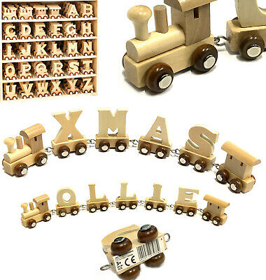 £2.95 • Buy Wooden Name Train Letters Christening Gift Childs Toy Christmas Stocking Fillers