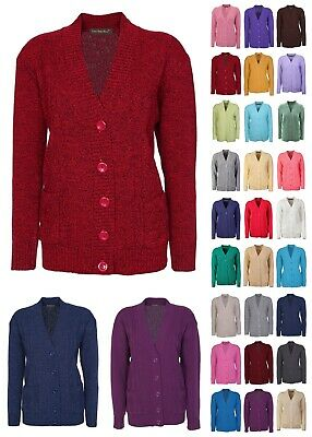 Cardigan For Women Ladies Long Sleeve Button Up Aran Cable Knitted Size 10-20 • 16.99£