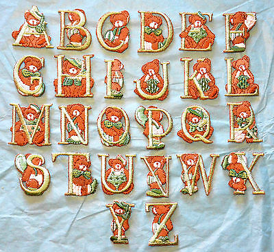 £0.99 • Buy Boys/Girls Teddy Bear Alphabet Letters Embroidered Motif Iron/Sew  On Childrens