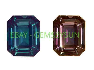 AU168.58 • Buy Lab Created Pulled Alexandrite True Color Change Octagon Loose Stone (4x2-35x25)