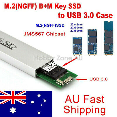 AU39.88 • Buy M.2(NGFF) SATA KEY B+M SSD To USB 3.0 Converter Adapter External Aluminum Case