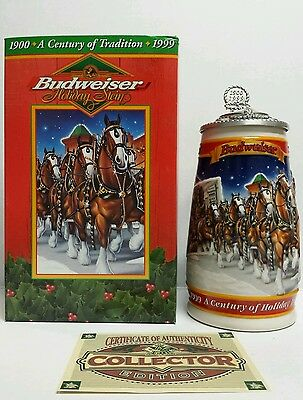 $ CDN66.66 • Buy 1999 Budweiser  A Century Of Tradition  Holiday Stein Lidded CS389SE Signature