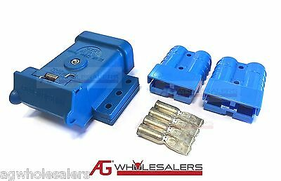 AU21 • Buy Blue Anderson Plug Mounting Kit 50a With 2 Plugs Mount Cover Dust Cap External