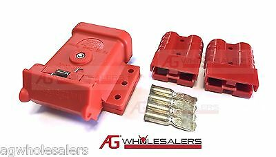 AU21 • Buy Red Anderson Plug Mounting Kit 50a With 2 Plugs Mount Cover Dust Cap External