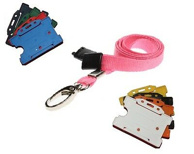 Pink Safety Breakaway Lobster Clip Neck Lanyard With ID Card Badge Holder  • 0.99£