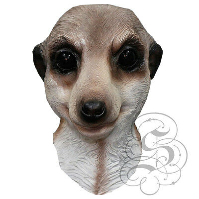 Latex Full Head Animal Safari Meerkat Fancy Dress Up Props Carnival Party Mask  • 19.99£