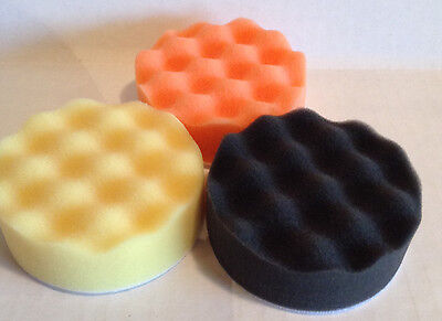 $17.83 • Buy 3   Hook And Loop Foam Buffing Polishing Pads Set Of 3 Finishes