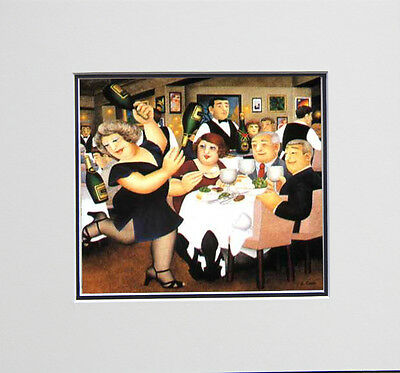Beryl Cook Dine Out Mounted Print • 14.95£