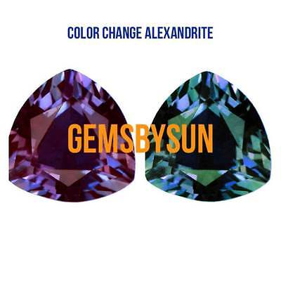 AU154.53 • Buy Lab-Created Pulled Alexandrite True Color Change Trillion Loose Stone 3x3-25x25