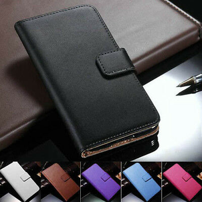 AU9.99 • Buy IPhone 12 Mini 11 Pro Max XS XR 8 7 Plus Genuine Leather Wallet Flip Case Cover