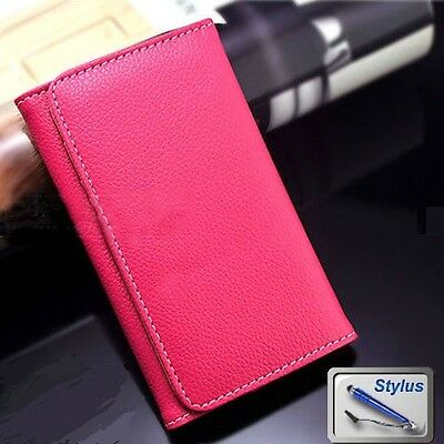 AU8.99 • Buy Pink Wallet Money Card Leather Case Cover Huawei Ascend G510 G630 G620s + Stylus