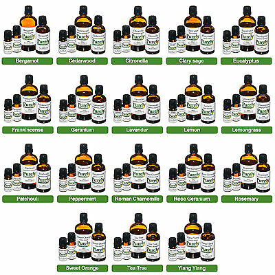 100ml Essential Oil Certified 100% Pure & Natural, Purely Essential • 15.99£
