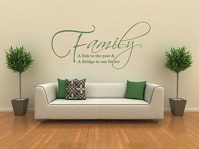 £15.95 • Buy Family - A Link To The Past Wall Art Quote, Wall Sticker, Modern Decal Transfer