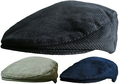 Mens Corduroy Flat Caps Peaked Outdoors Country Cord Cap Winter Or Summer Hat  • 8.95£