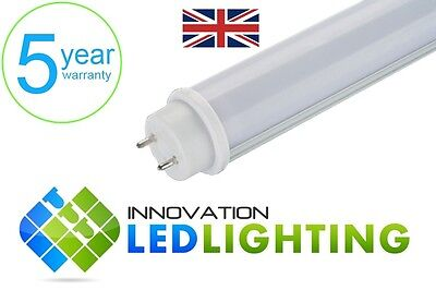 2 X LED T8 Tube Light 15W 4ft 1200mm Fluorescent Replacement Cool White Frosted • 18.99£