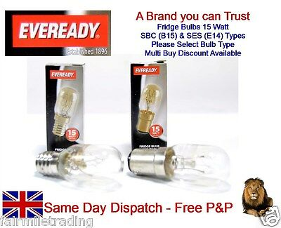 Eveready Branded 15w Fridge Lamp Light Bulb 240v SES E14 SBC B15 Sewing Machines • 2.99£