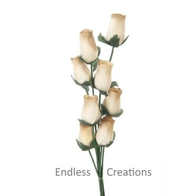 Brown & Cream Wooden Roses - Colour No.28 - Choose Amount Required - Weddings • 6.99£
