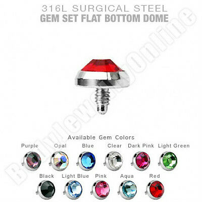 $19.99 • Buy Dermal Anchor Tops Surgical Steel 5mm Flat CZ 14g  Piercing Jewelry 11 Pcs