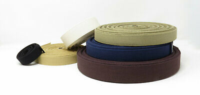 Natural Cotton Canvas Webbing, Bag Strap, Heavy Duty -  25mm, 38mm Or 50mm • 1.82£