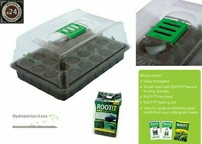 £12.99 • Buy ROOT IT Propagation 24 Natural Sponge Cubes Kit Comes With Gel First Feed Guide