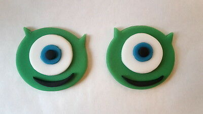 6 Edible Sugarpaste Monsters Inc Mike Birthday Cake/Cupcake Toppers Decorations • 4£