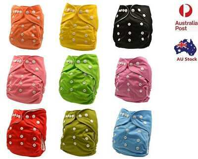 AU9.99 • Buy Plain Washable Baby Cloth Nappy Nappies Diaper Waterproof Surface Free Insert