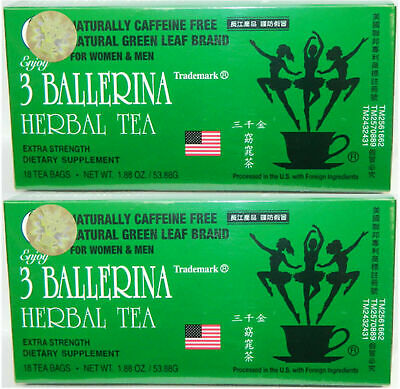 AU18.20 • Buy Diet Herbal Tea Extra Strength Weight Loss Constipation 2 Box 36 Bag 3 Ballerina